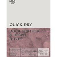 M&S Duck Feather & Down 13.5 Tog Duvet - 6FT - White, White