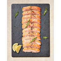 Half Side of Honey Roast Hot Smoked Salmon (Serves 10-12)
