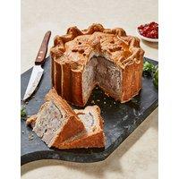 Festive Turkey, Chestnut & Bacon Pork Pie (Serves 8) - Last day to Collect 20th December