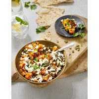 Roasted Sweet Potato with Smashed Spiced Carrot, Crumbled Feta & Pumpkin Seeds (Serves 6)