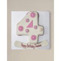 Personalised Flowers Number Chocolate Cake - Single Digit (Serves 20)