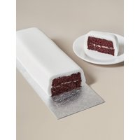 Wedding Cutting Bar Cake – Red Velvet Chocolate Sponge with Cream Cheese Frosting and White Icing (Serves 22)
