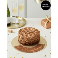 M&S Personalised Piped Shimmering Rose Chocolate Cake (Serves 20)