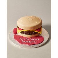 Personalised Brilliant Burger Cake (Serves 30) at Marks and Spencer Online