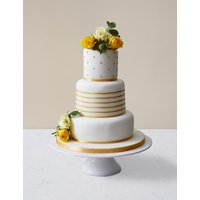 Gold Vogue Wedding Cake - Assorted Flavours (Serves 100)