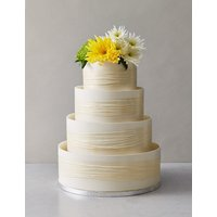 Shimmering Hoop Chocolate Wedding Cake - White & Gold (Serves 110)