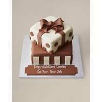 Personalised White & Milk Chocolate Present Stack Cake (Serves 56)