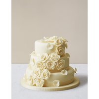 Rose Wedding Cake with White Chocolate Icing (Serves 140-150)