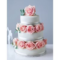 Traditional Wedding Cake - Medium Tier (Serves 16-24)