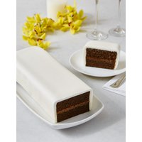 Wedding Cutting Bar Cake - Chocolate with Ivory Icing (Serves 22)