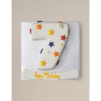 Personalised Stars Number Sponge Cake - Single Digit (Serves 20)