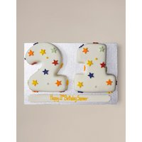 Personalised Stars Numbers Sponge Cake Double Digit (Serves 40)