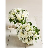 M&S White Rose & Freesia - Additional Bridesmaids Bouquets x 2