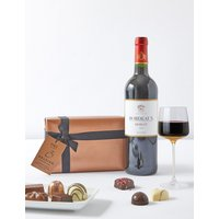 Red Wine & Italian Chocolates Gift Selection