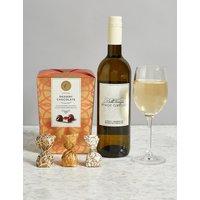 White Wine & Swiss Chocolates Gift