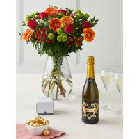 The Highfield - Tea, Biscuits & Bouquet Gift