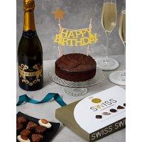 Happy Birthday Prosecco, Chocolates & Cake Gift