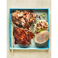 Smoked Pork Shoulder with Apple Barbecue Sauce (Serves 4)