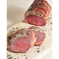 Bacon Wrapped Venison with Plum & Sloe Gin Stuffing (Serves 4)