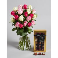 Pink Rose & Chocolate Gift Selection