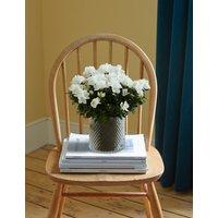 White Azalea Glass Planter