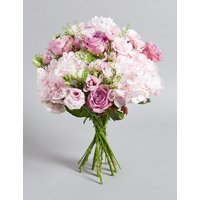 The Collection Pink Rose & Hydrangea Bouquet (Available for delivery from 10th February 2019)