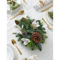 Festive White Candle Arrangement