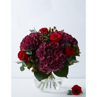 The Collection Red Hydrangea & Rose Bouquet