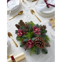 Festive Red Candle Table Arrangement