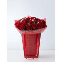 Large Be Mine Red Rose Gift Bag (Available for delivery from 10th February 2019)