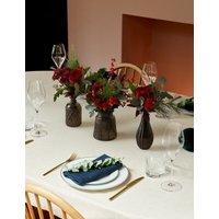 M&S White Candle Table Arrangement
