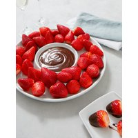 Fresh Prepared Strawberries with a Belgian Chocolate Sauce (Serves 8)