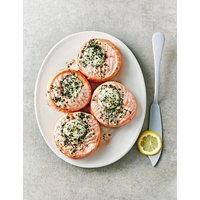 Scottish Salmon Medallions with Mascarpone, Lemon & Roast Garlic (4 Pieces)