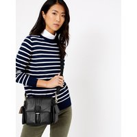 MandS Collection Leather Mini Saddle Messenger Bag