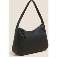 M&S Womens Faux Leather Shoulder Bag - Tan, Tan,Black
