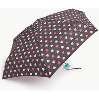 M&s Collection Heart Print Compact Umbrella