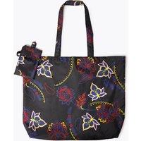 MandS Collection Floral Print Packable Shopper Bag