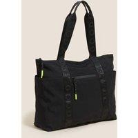 MandS Goodmove Womens Gym Tote Bag - Black, Black