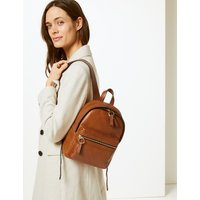 M&S Collection Leather Backpack Bag