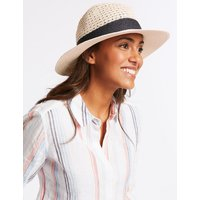 M&S Collection Textured Fedora Sun Hat