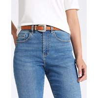 M&S Collection Faux Leather Buckle Detail Hip Belt