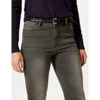 M&S Collection Faux Leather Studded Jeans Hip Belt