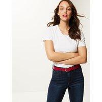 M&S Collection Faux Leather Jeans Hip Belt