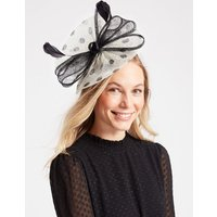 M&S Collection Spotted Bow Fascinator