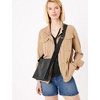 MandS Collection Leather Messenger Bag