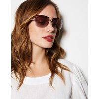 MandS Collection Rimless Square Sunglasses