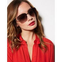 MandS Collection Bling Rimless Square Sunglasses