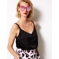 MandS Collection Oversized Rimless Sunglasses