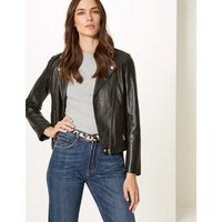 M&S Collection Leather Animal Print Hip Belt