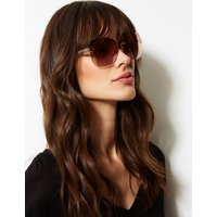 M&S Collection Bling Rimless Square Sunglasses